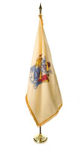 State of New Jersey Indoor Parade Presentation Flag Set Display