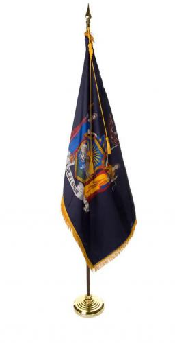 State of New York Indoor Parade Presentation Flag Set Display