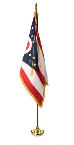 State of Ohio Indoor Parade Presentation Flag Set Display