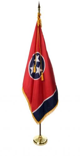 State of Tennessee Indoor Parade Presentation Flag Set Display