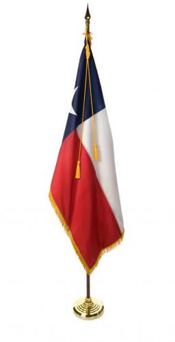 State of Texas Indoor Parade Presentation Flag Set Display