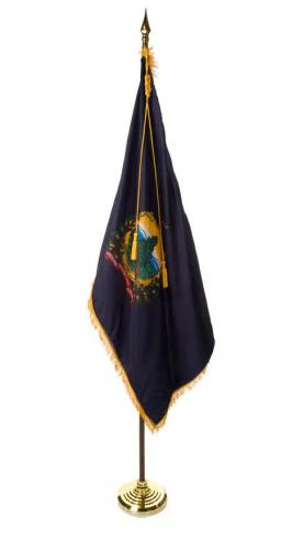 State of Vermont Indoor Parade Presentation Flag Set Display